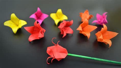 Origami Tulip Flower - origami flower tulip in br my