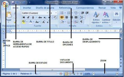 partes de la ventana de microsoft word office de 2016 mairim microsoft office word 2007