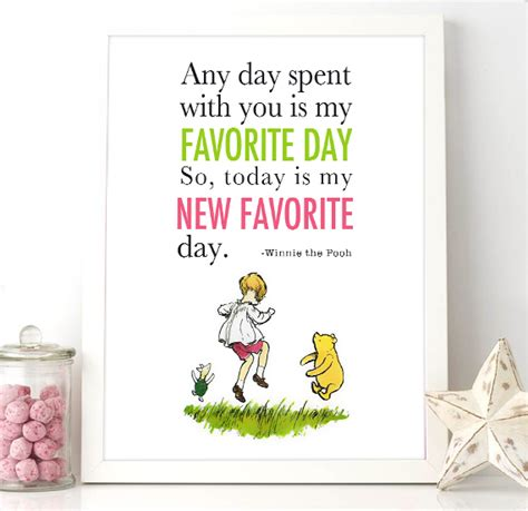Home Decorating Quotes by Printable Winnie The Pooh Quote Today Is My New Favorite