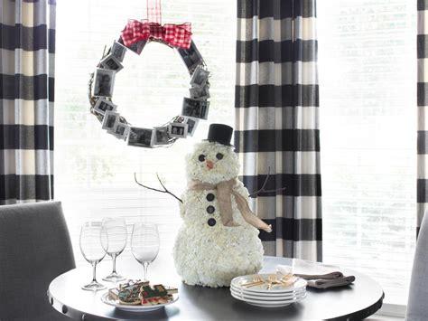 snowman centerpiece ideas how to make a carnation snowman centerpiece hgtv