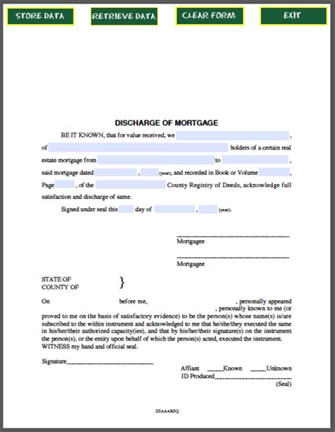 Mortgage Discharge Letter Canada Discharge Of Mortgage Certificate Free Fillable Pdf Forms Free Fillable Pdf Forms