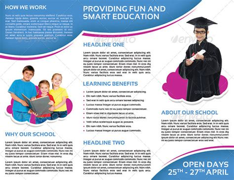 Play School Brochure Templates by 21 Kindergarten Brochure Templates Free Psd Eps Ai
