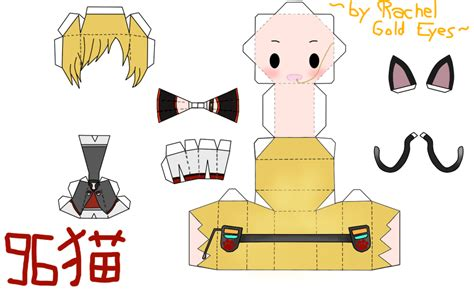 Chibi Papercraft - 96neko papercraft chibi by gold on deviantart