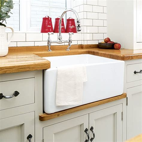 country kitchen sink white country kitchen butler sink with oak worktop