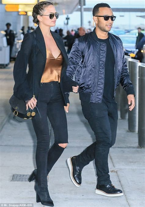 Glamorous Tv Bahus Celebrate 19 Yrs Of Sia Jewellery by Chrissy Teigen And Legend As They Jet Into Jfk