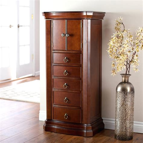 standing jewelry armoire free standing jewelry armoire with mirror fashion jewelry