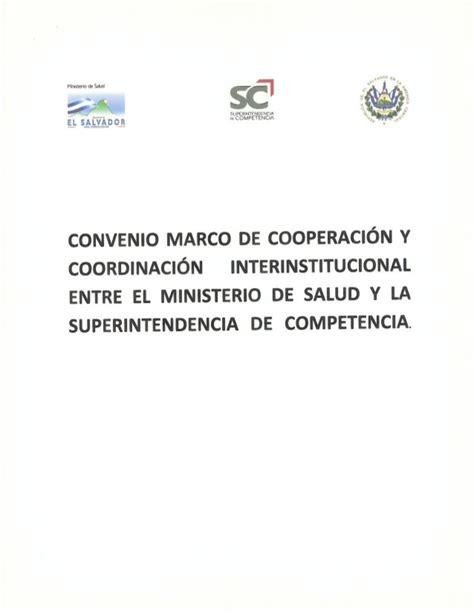 convenio de cooperacin interinstitucional entre convenio marco de cooperaci 243 n y coordinaci 243 n