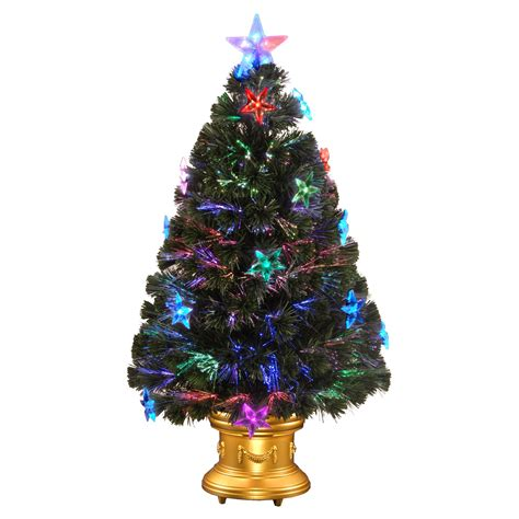 3 ft fiber optic fireworks pre lit led medium christmas