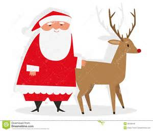 santa rudolph royalty free stock photos image 35336548