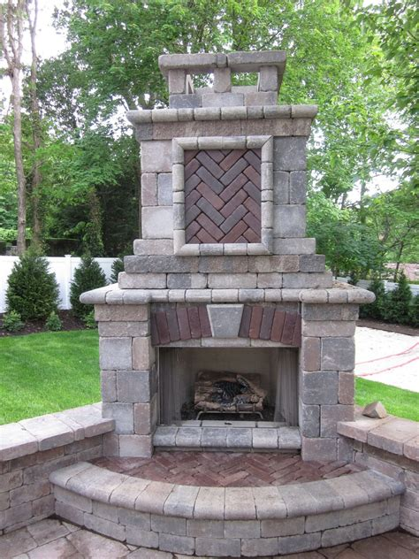 tuscan outdoor fireplace features places island