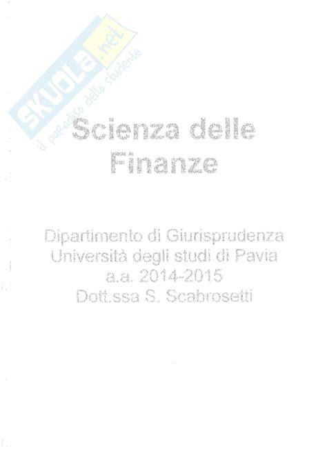 dispense scienze delle finanze economia produzione e sistemi economici