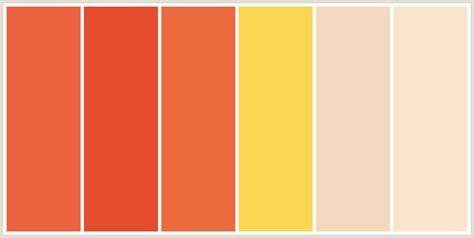 colors that go with orange colorcombo421 with hex colors ec633f e44d2e ec6c3f