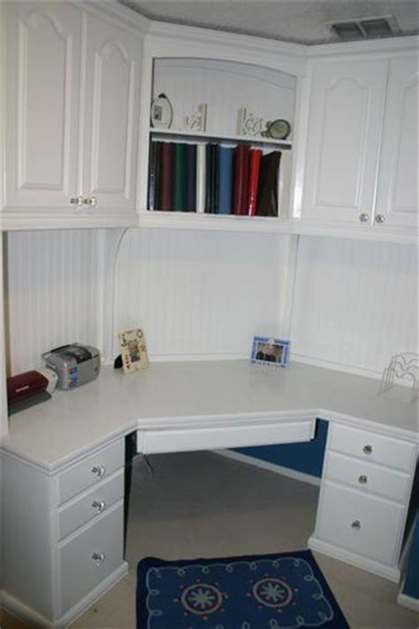 built in corner desk home office