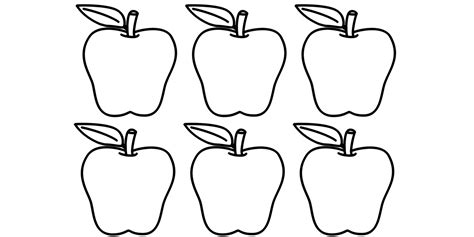 apple number coloring pages number 6 printing worksheet number and word