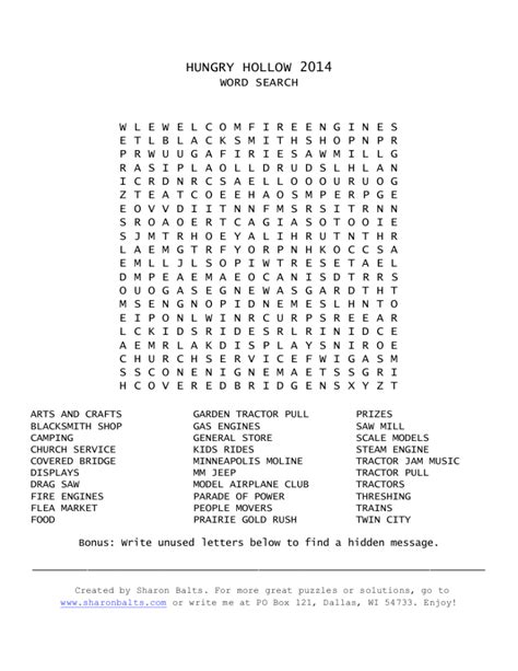 printable word search puzzles with hidden messages sharon balts fiction from the farm sharon balts