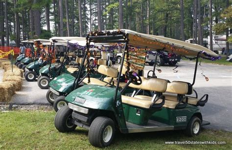 Golf Carts Decorated For by Indiana Lake Rudolph Resort Travel 50 States With