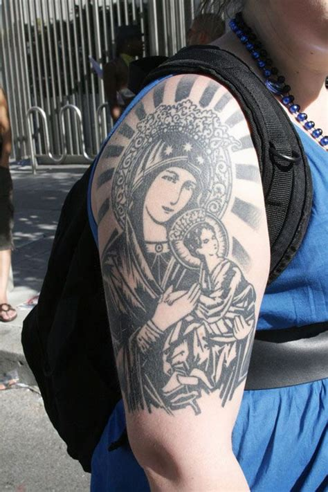 jesus icon tattoo religious sleeve tattoos for women http tattooeve com