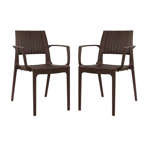 Patterned Dining Chairs by Set Of 2 Astute Durable Criss Cross Patterned Dining