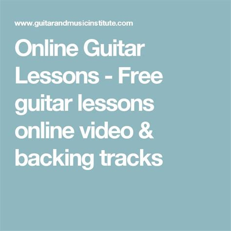 best 25 free guitar lessons ideas on guitar