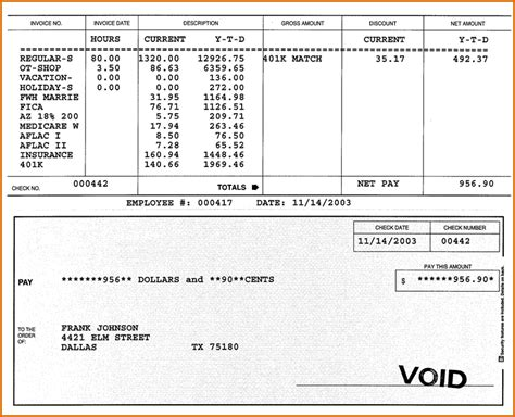paycheck stub template in microsoft word 7 pay stub template pdf authorizationletters org