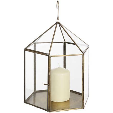 Home Interiors Votive Candle Holders antique brass hanging glass lantern for votive pillar tea