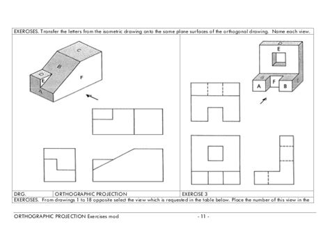 Jmcintyre Tdj3m Views And Sketching | image gallery orthographic projection practice