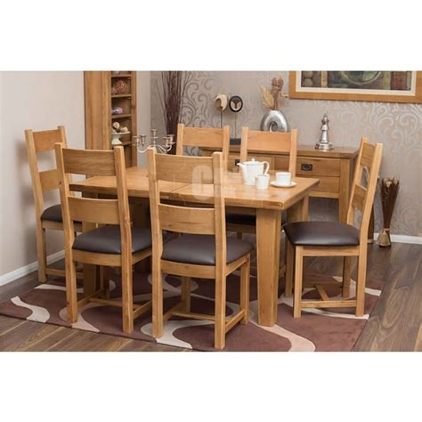 rustic oak dining table and chairs rustic oak extending dining room table and chairs click oak