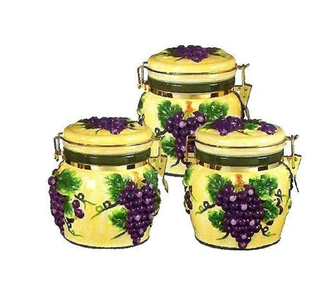 grape canister sets kitchen 1000 images about grape kitchen ideas on