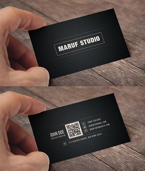 business card template psd behance blakish simple free psd business card on behance
