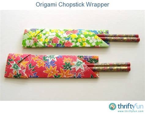 Origami Wrapper - origami chopstick wrapper thriftyfun