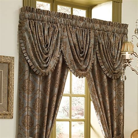 waterfall valance pattern croscill laviano waterfall swag valance bed bath beyond