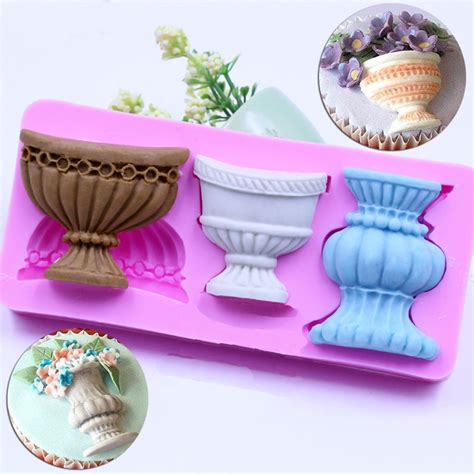 decorated cooking urn fondant silicone mold cake decorating tools sculpture pot