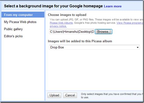 add wallpaper to google how to add background wallpaper to google homepage