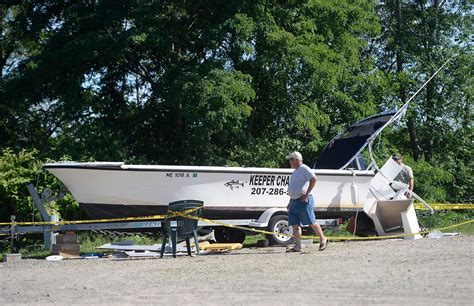 house boat explodes boat explodes at saco yacht club injuring owner