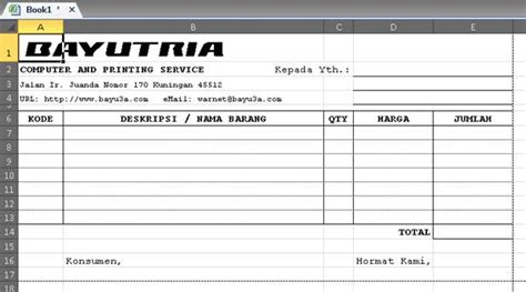 Buku Nota Bisa Request Nama Perusahaan catatan tik