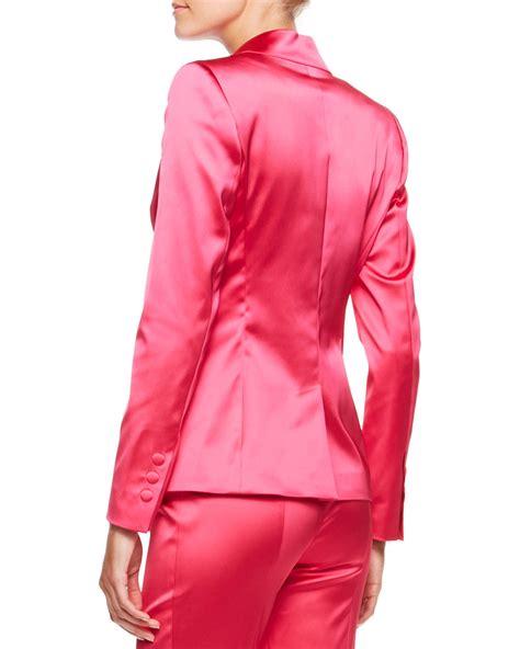 Gingersnap Tiny Dress Blazer Pink Ethnic lyst escada twobutton satin blazer blossom in pink