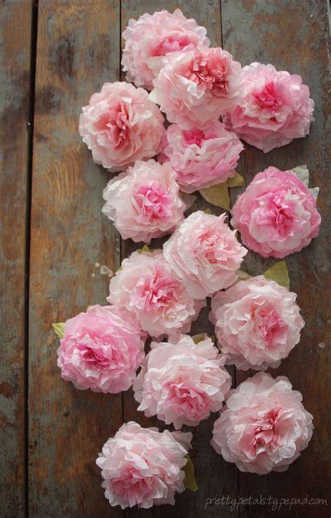 paper flower peony tutorial peony coffee filter flowers tutorial pretty petals