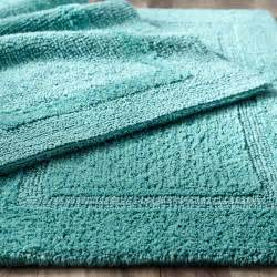 Aqua Bathroom Rugs Reversible Cotton Turquoise 21x34 Bath Rug Pier 1 Imports