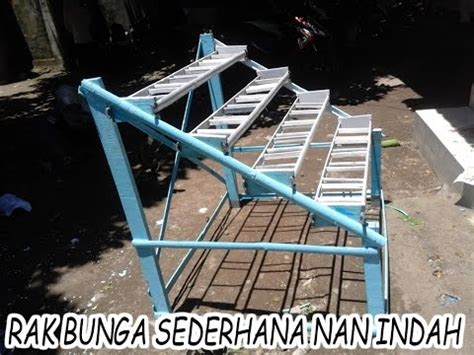 membuat rak bunga  indah youtube