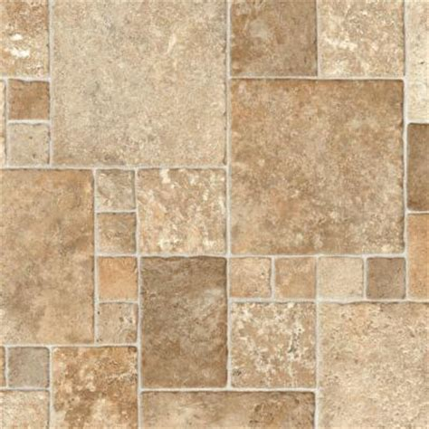 trafficmaster sandstone paver 12 ft wide vinyl sheet u4290 284c936g144 the home depot