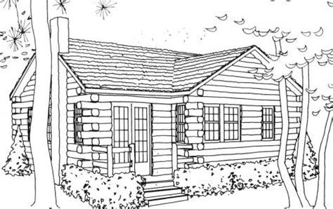 log cabin pictures to color free coloring pages on art