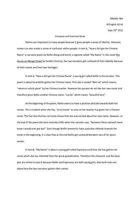 compare and contrast essay template compare and contrast essay outline