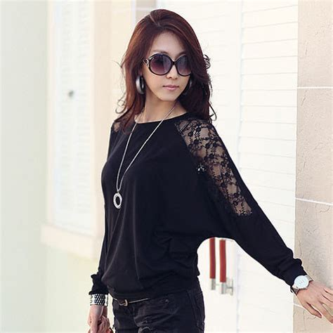 40083 White Sweet Lace Casual Blouse batwing sleeve shirt clothes 2018 casual lace blouse white tops cotton plus size