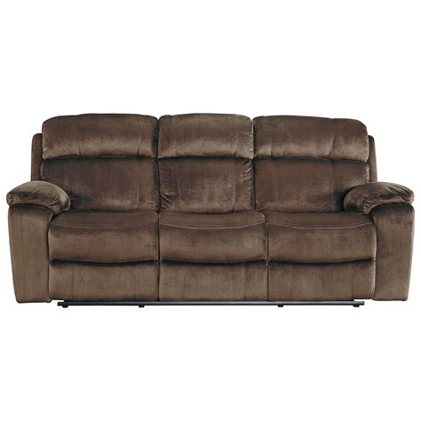 power reclining sofa with adjustable headrest signature design by ashley uhland 6480315 power reclining