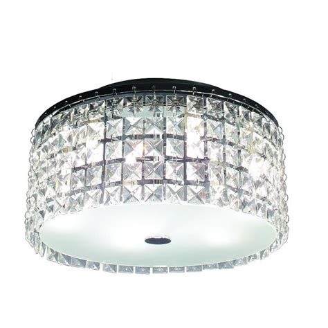 Brushed Chrome Ceiling Lights Hton Bay Glam Cobalt 3 Light Brushed Chrome Ceiling Light Pl3413hb The Home Depot