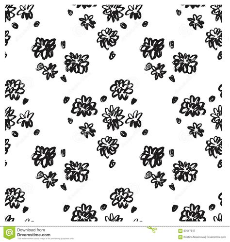 ink pattern black and white ector ink floral seamless pattern modern seamless pattern