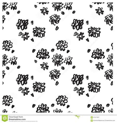 modern pattern brush ector ink floral seamless pattern modern seamless pattern