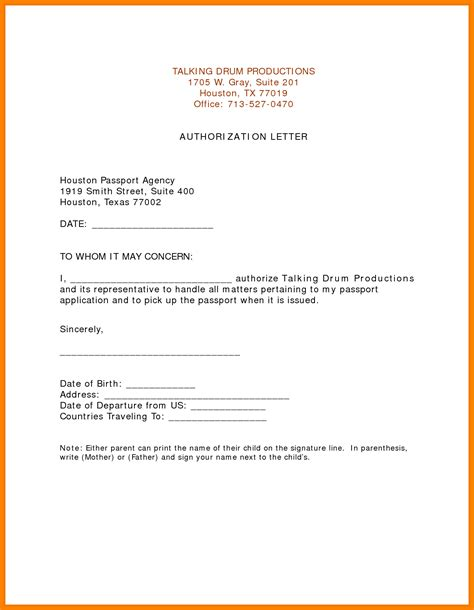 Authorization Letter Of Bank 5 Authorization Letter For Bank Statement Dialysis