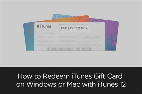 How To Redeem Gift Cards - how to redeem itunes gift card on windows or mac with itunes 12 axeetech