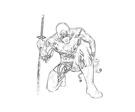 free marvel daredevil coloring pages